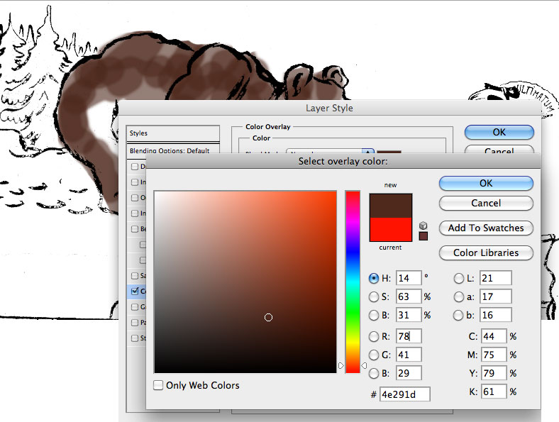 Select new colour