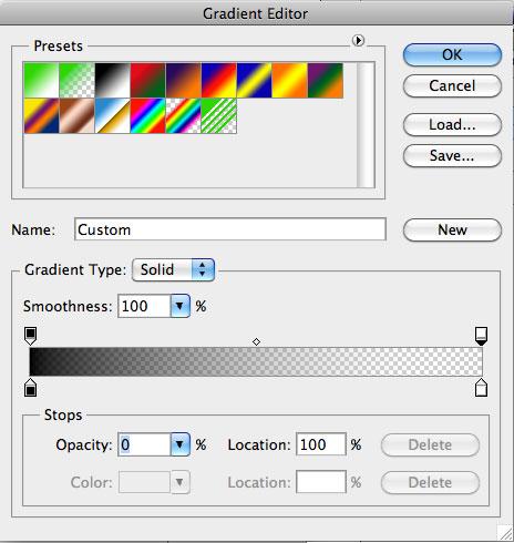 Gradient Overlay > Opacity 0