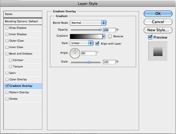 Layer Style > Gradient Overlay