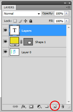 Create a new layer using the new layer icon
