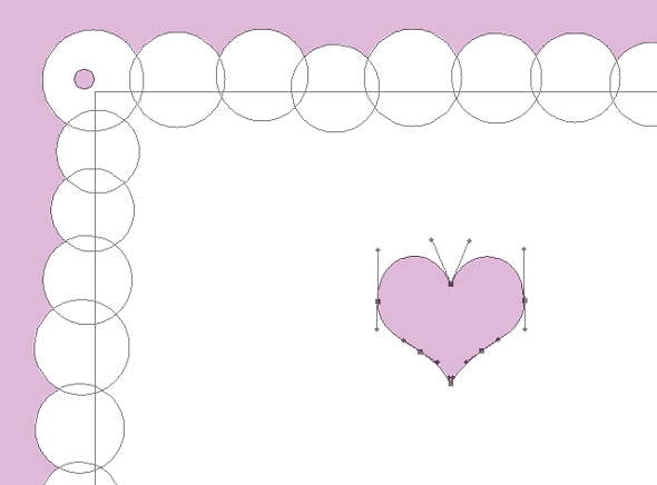 use the direct selection tool to select the points of the heart