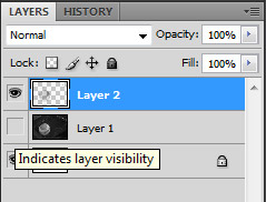 Hide original photo layer