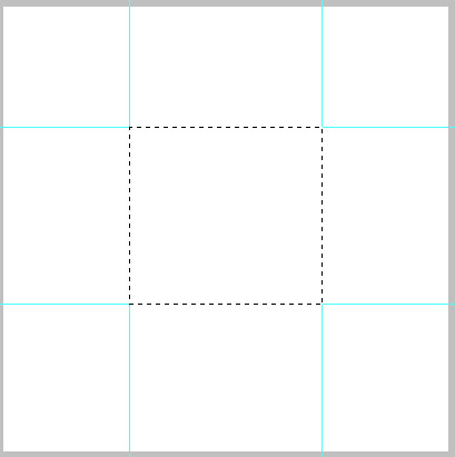 draw the guides to meet the rectangle