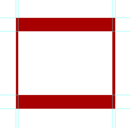subtract from the outer rectangle