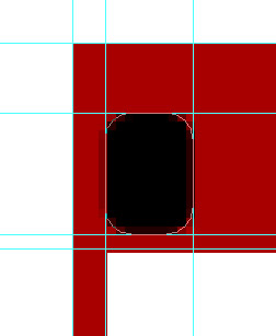draw rounded rectangle within new guide lines