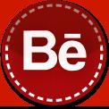 Behance red stitch icon