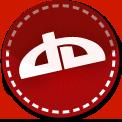 Deviant Art red stitch icon