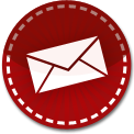 Email red stitch icon