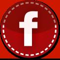 Facebook red stitch icon
