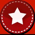 Favourites red stitch icon