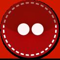 Flickr red stitch icon