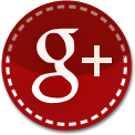 Google Plus red stitch icon