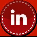 Linkedin red stitch icon