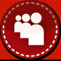 Myspace red stitch icon