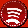 Spotify red stitch icon