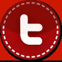 Twitter red stitch icon