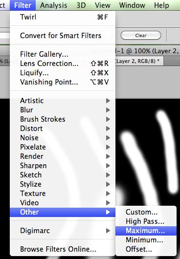 Choose filter > Other > Maximum