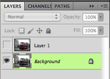 desaturate background layer